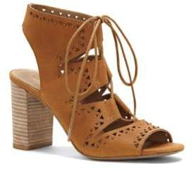 Lucky Brand Tafia Leather Lace-Up Sandals