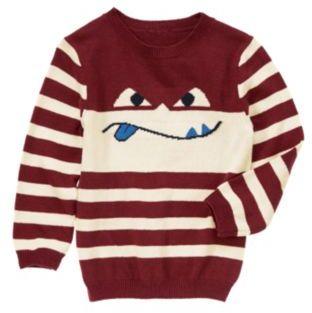 Crazy 8 Silly Superhero Stripe Sweater