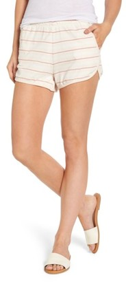 Women's Obey Tuesday Stripe Shorts $40 thestylecure.com