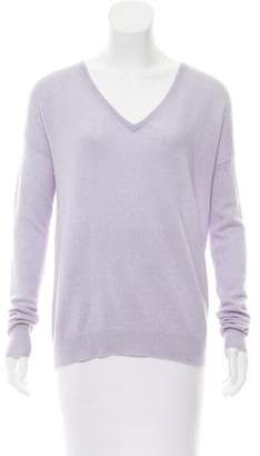 White + Warren V-Neck Long Sleeve Sweater
