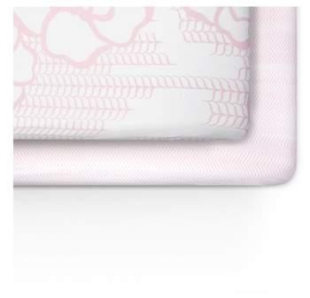 OILO Capri & Zigzag 2-Pack Jersey Crib Sheets