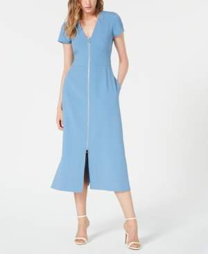 Jill Stuart Front-Zip Midi Dress