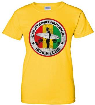 Co Dolphin Shirt California Republic Beach Club Ladies T-Shirt