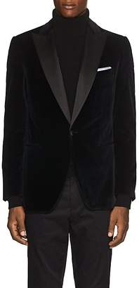 Pal Zileri MEN'S SATIN-TRIMMED VELVET TUXEDO JACKET