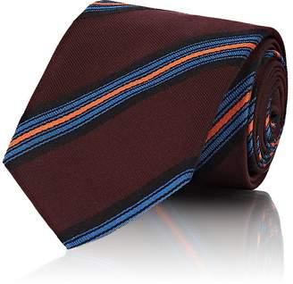 Prada Men's Striped Silk Twill Necktie
