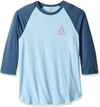 HUF Men's Triple Triangle Raglan Shirt