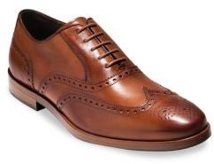 Cole Haan Hamilton Grand Wingtip Oxford Leather Shoes $280 thestylecure.com