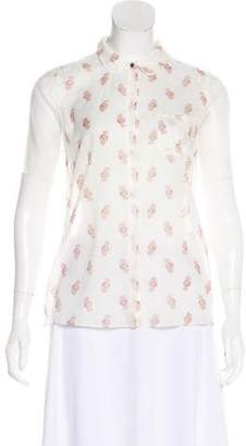 Elizabeth and James Short Sleeve Button-Up Top w/ Tags