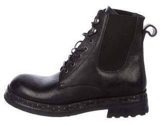 Dolce & Gabbana Leather Combat Boots