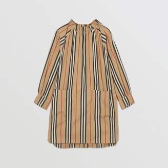 Burberry Icon Stripe Cotton Poplin Dress