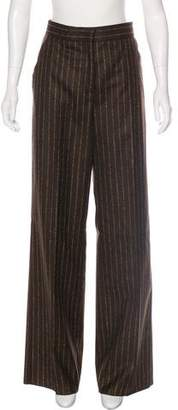 Genny Striped High-Rise Pants