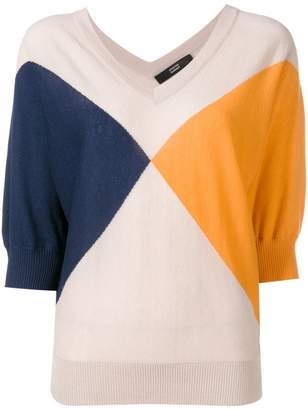 Steffen Schraut colour block knitted top