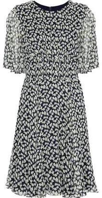 Jason Wu Shirred Printed Silk-Georgette Dress