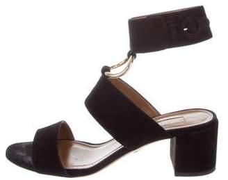 Aquazzura Suede Ankle-Strap Sandals