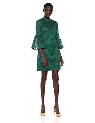 Trina Turk Trina Women's Twist Mock Neck Bell Sleeve Dress