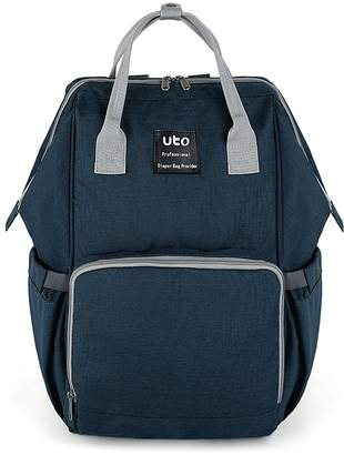UPGRADED VERSION-UTO Diaper Bag Multi-Function Large Capacity Waterproof Travel Backpack Nappy Bags for Baby Care Stylish Durable Outdoor Rucksack Blue CA