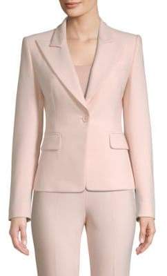 Michael Kors One-Button Pebble Crepe Blazer