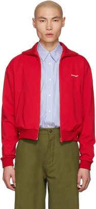 Balenciaga Red Jersey Tracksuit Jacket