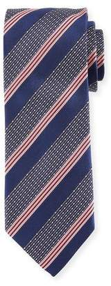 Eton Wide Broken Stripe Silk Tie