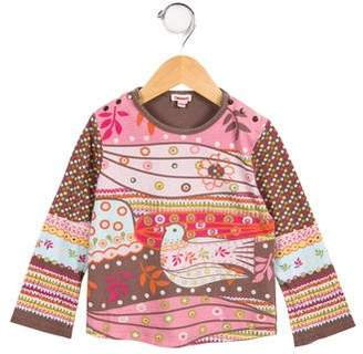 Catimini Girls' Printed Knit Top