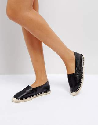 Pieces Black Glitter Espadrilles