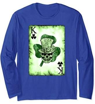 DAY Birger et Mikkelsen Skull Card Irish St Patrick's Long Sleeve T-Shirt
