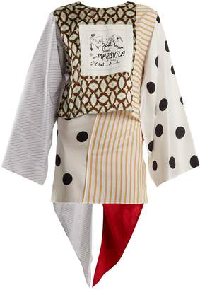 MM6 MAISON MARGIELA Patchwork cotton and silk wrap top