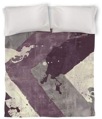 IDG Splatter No 1 Purple Duvet Cover