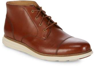 Cole Haan Leather Cap-Toe Chukka Boots