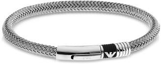 Emporio Armani Iconic Woven Stainless Steel Men's Bracelet
