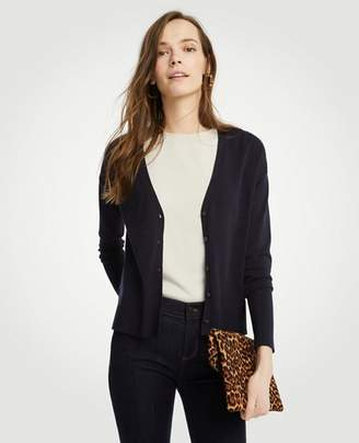 Ann Taylor Relaxed V-Neck Cardigan