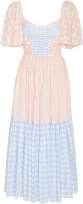 Prabal Gurung Two-Tone Gingham Tencel-Blend Midi Dress Size: 0