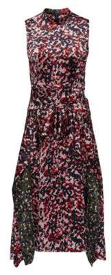 HUGO Boss Midi-length dress in camouflage print knot detail 4 Patterned