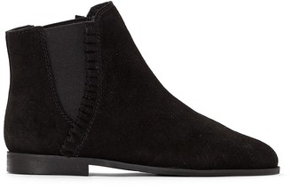 La Redoute Collections Leather Chelsea Boots with Ruffle Detail