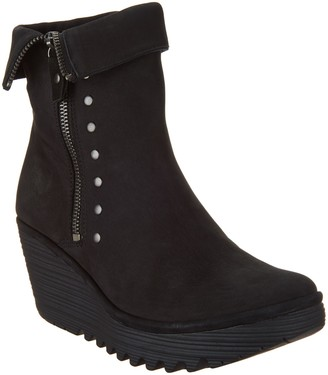 Fly London Nubuck Leather Zip Mid Boots - Yemi
