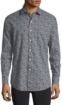 Peter Millar Snow Hares Flannel Sport Shirt