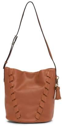 The Sak Buc Stitched Leather Hobo Bag