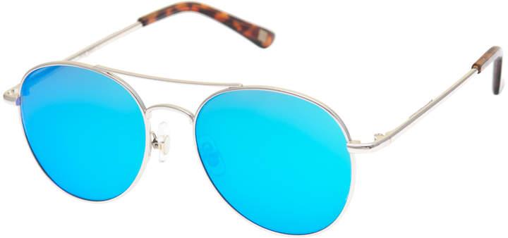 Black & Turquoise Aviator Sunglasses