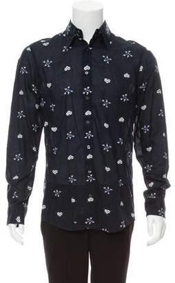 Dolce & Gabbana Flower Appliqué Button-Up Shirt