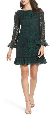 Eliza J Flare Sleeve Lace Shift Dress