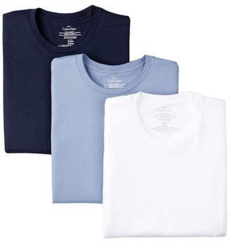 Calvin Klein Crew Tee - Pack of 3 $39.50 thestylecure.com