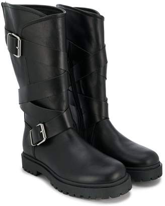 Florens buckled strap boots