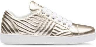 Prada Metallic leather sneakers