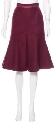 Louis Vuitton Wool Flounce Hem Skirt w/ Tags