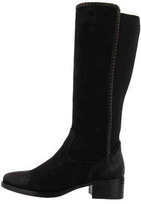 Spring Footwear Micro-Suede Braided Boot