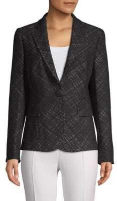 Akris Punto Textured Long-Sleeve Jacket