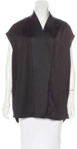 Stella McCartneyStella McCartney Satin Button-Up Vest