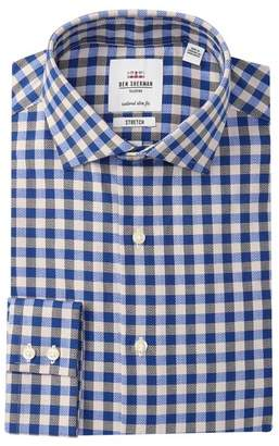 Ben Sherman Tailored Slim Fit Checkered Dress Shirt