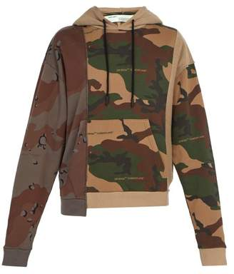 Off-White Off White Camouflage Print Hooded Sweatshirt - Mens - Khaki