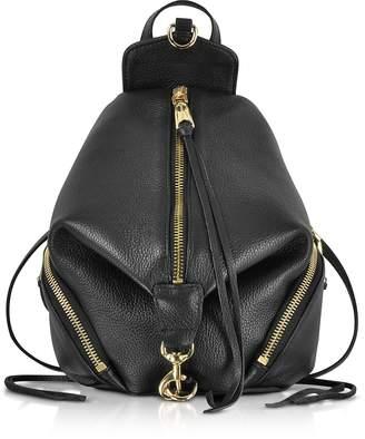 Rebecca Minkoff Black Leather Convertible Mini Julian Backpack